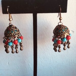 Made in India coral and turquoise